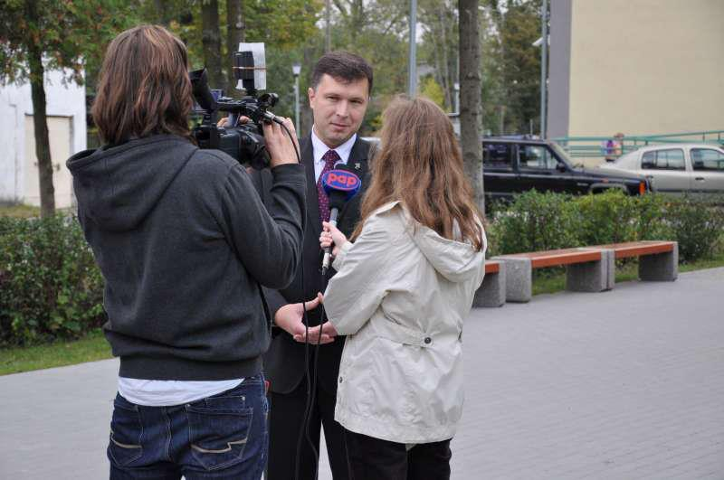 wywiad dla PAP fot. https://www.facebook.com/arkadiusz.kosinski