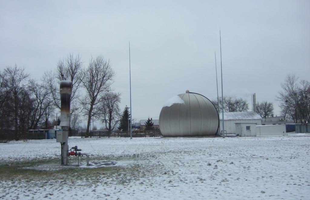 pochodnia biogazu