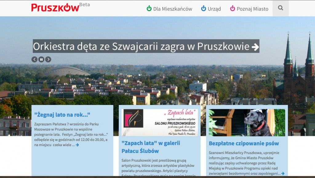 Nowa strona Pruszkowa